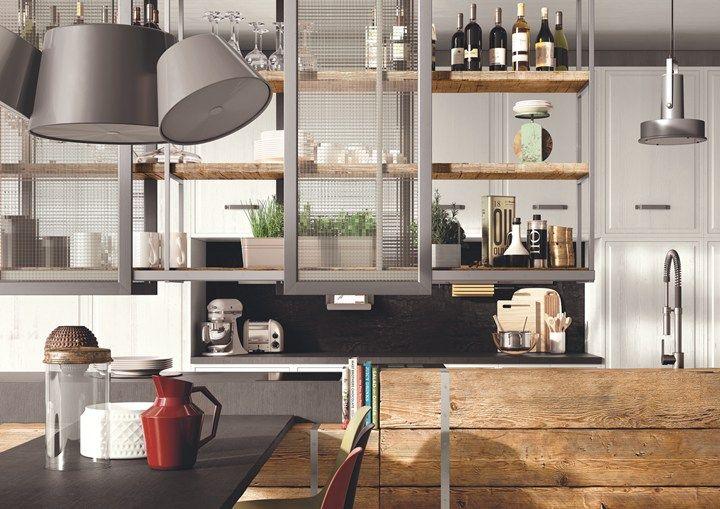 Legno di recupero dal gusto industrial e country marchi cucine presenta i progetti lab 40 e - Cucine di recupero ...
