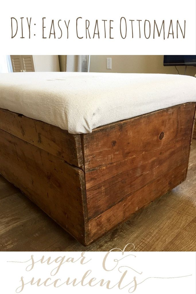 Easy tutorial to turn a vintage, rustic crate into an industrial ...