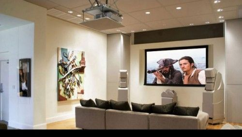 living room projector ideas - Google Search | Home Cinema ...