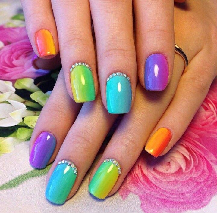 KimsKieNails | nails <3 | Pinterest | Verano, Arco iris y Arte de uñas