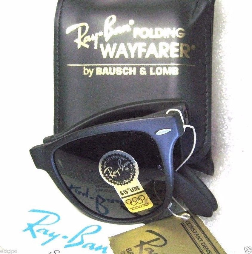 4ecad43bcc3 ... closeout ray ban new vintage bl sunglasses folding wayfarer ii rare  w0871 g 15case 7305f 73444