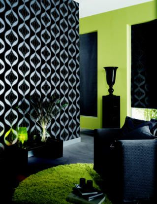 Thinking About Doing Something Similar With The Walls In Our Bedroom Lime Green Bedrooms Lime Green Rooms Green Bedroom Walls