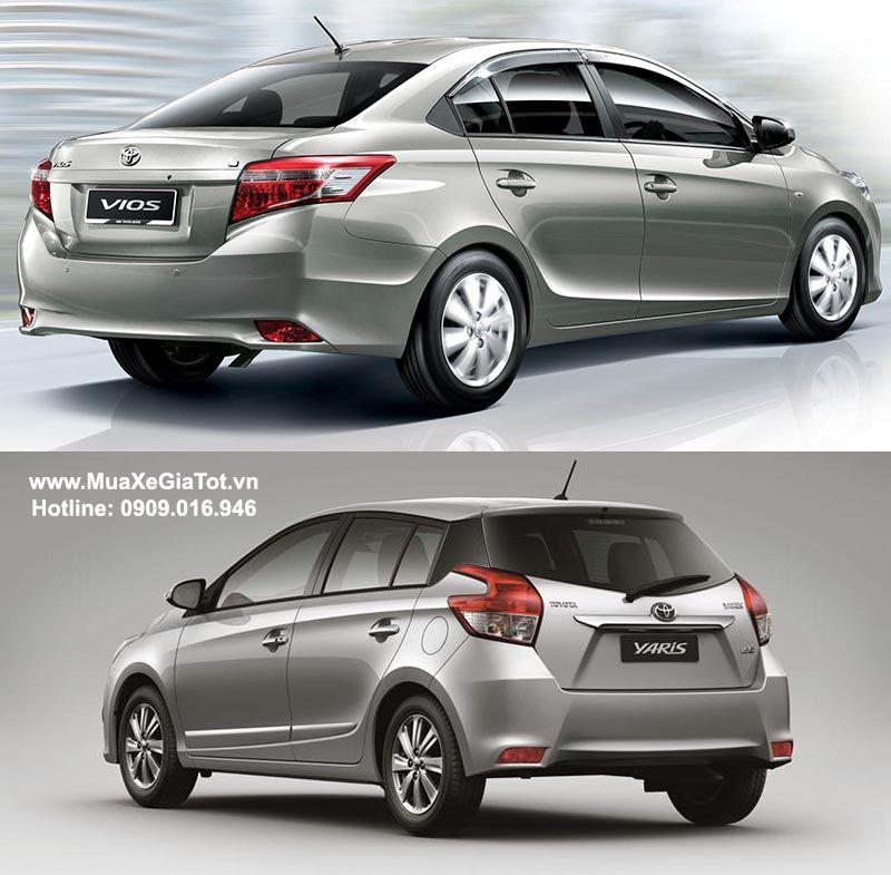 So sánh Toyota Vios và Toyota Yaris 2017