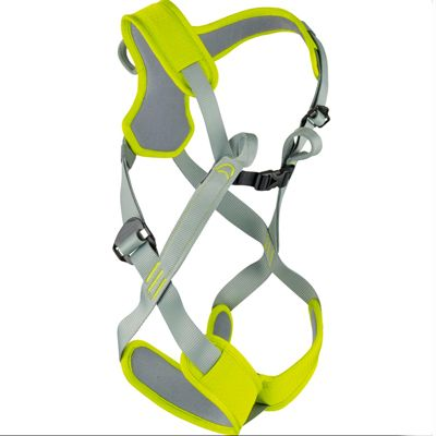 Edelrid Fraggle Harness | The Fraggle is a padded full body harness for children up to 40 kg. Its padding helps maintain its shape and makes it easier to put on and takeoff. | at www.weighmyrack.com #rock #climbing #gear