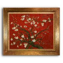 27 in. Branches of an Almond Tree (Red) Painting