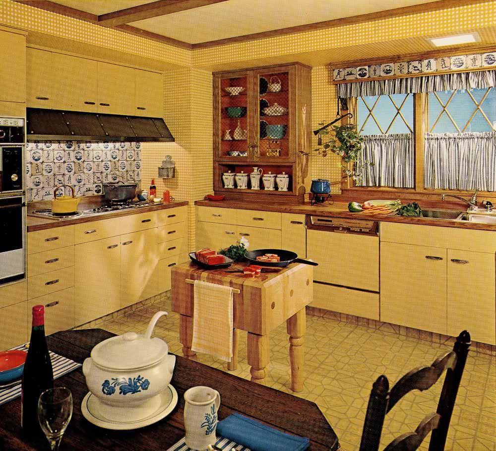 1970s kitchen design   one harvest gold kitchen decorated in 6 distinct  u002770s styles 1970s kitchen design   one harvest gold kitchen decorated in 6      rh   pinterest com