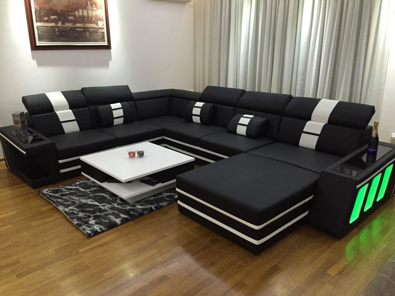 Couch Mit Led Designer Sofa Carezza Xxl Mit Led Beleuchtung In 2019