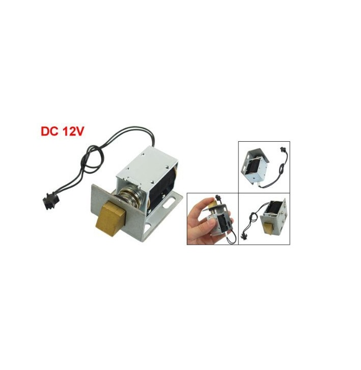 1240 12v Dc 12v 1 7a 20 6w 1kg Holding Solenoid For Electric Door Lock In 2020 Door Lock System Door Locks Iron Body