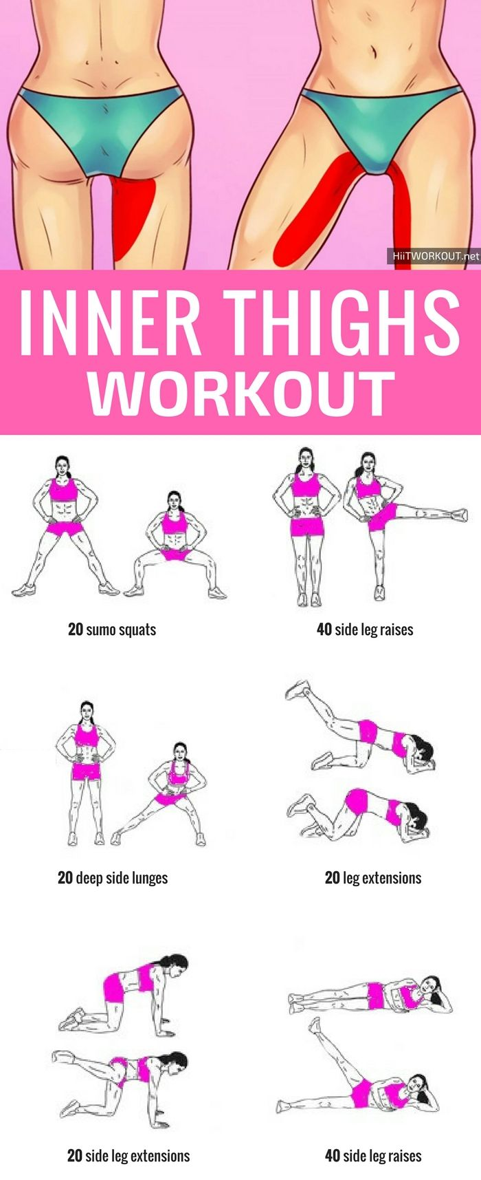 Tone your inner thighs with these moves waisthigh pinterest