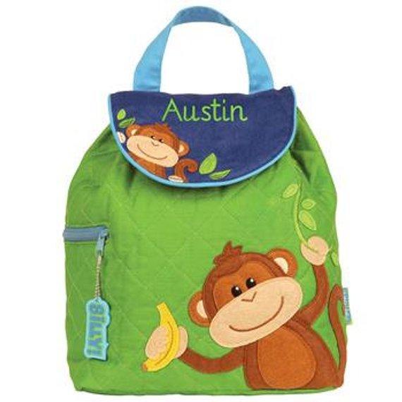 Monkey Personalized Backpack - Stephen Joseph