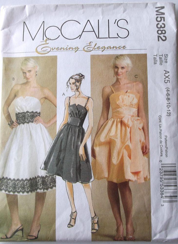 Evening Dress Pattern Mccalls M5382 Misses Formal Dresses Sash
