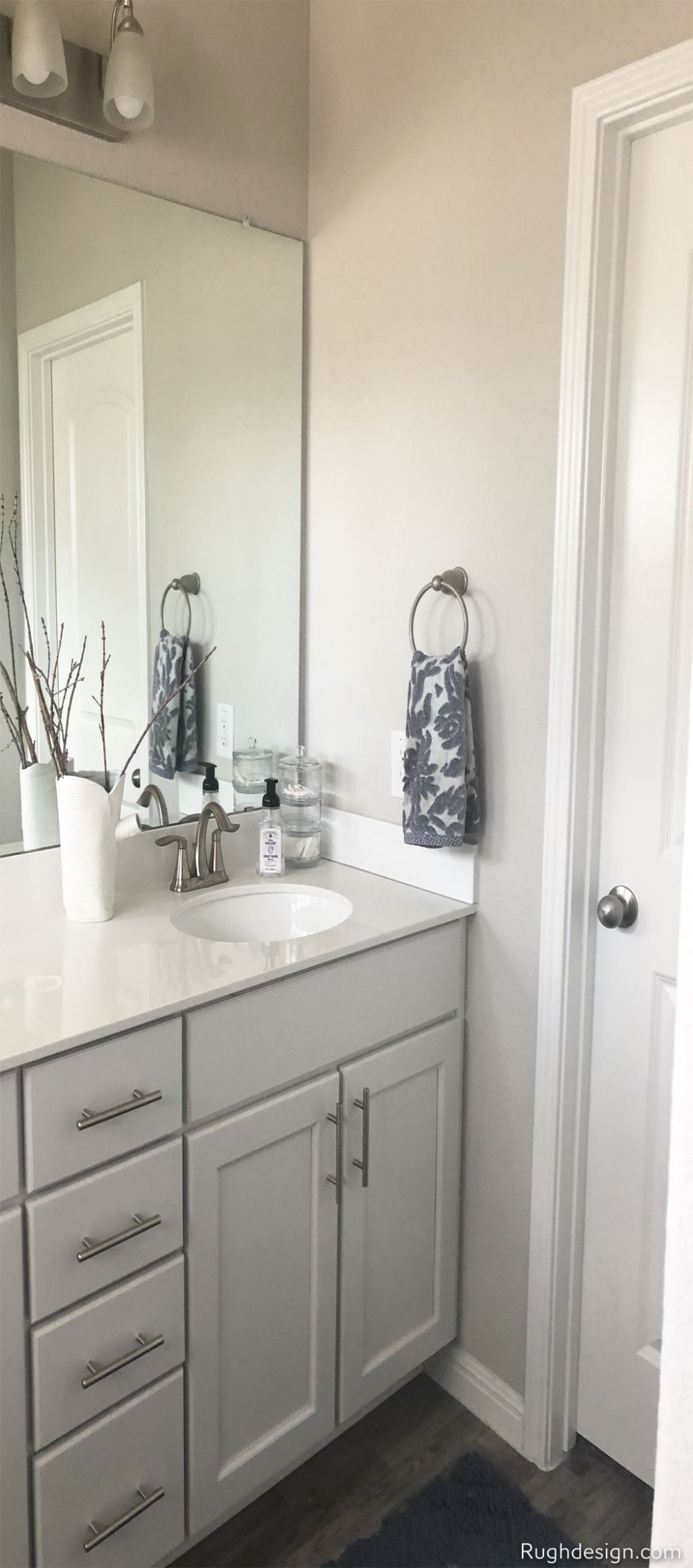 Agreeable Gray Color Review By Laura Rugh Rugh Design Bathroom Color Schemes Grey Bathroom Cabinets Gray Bathroom Walls