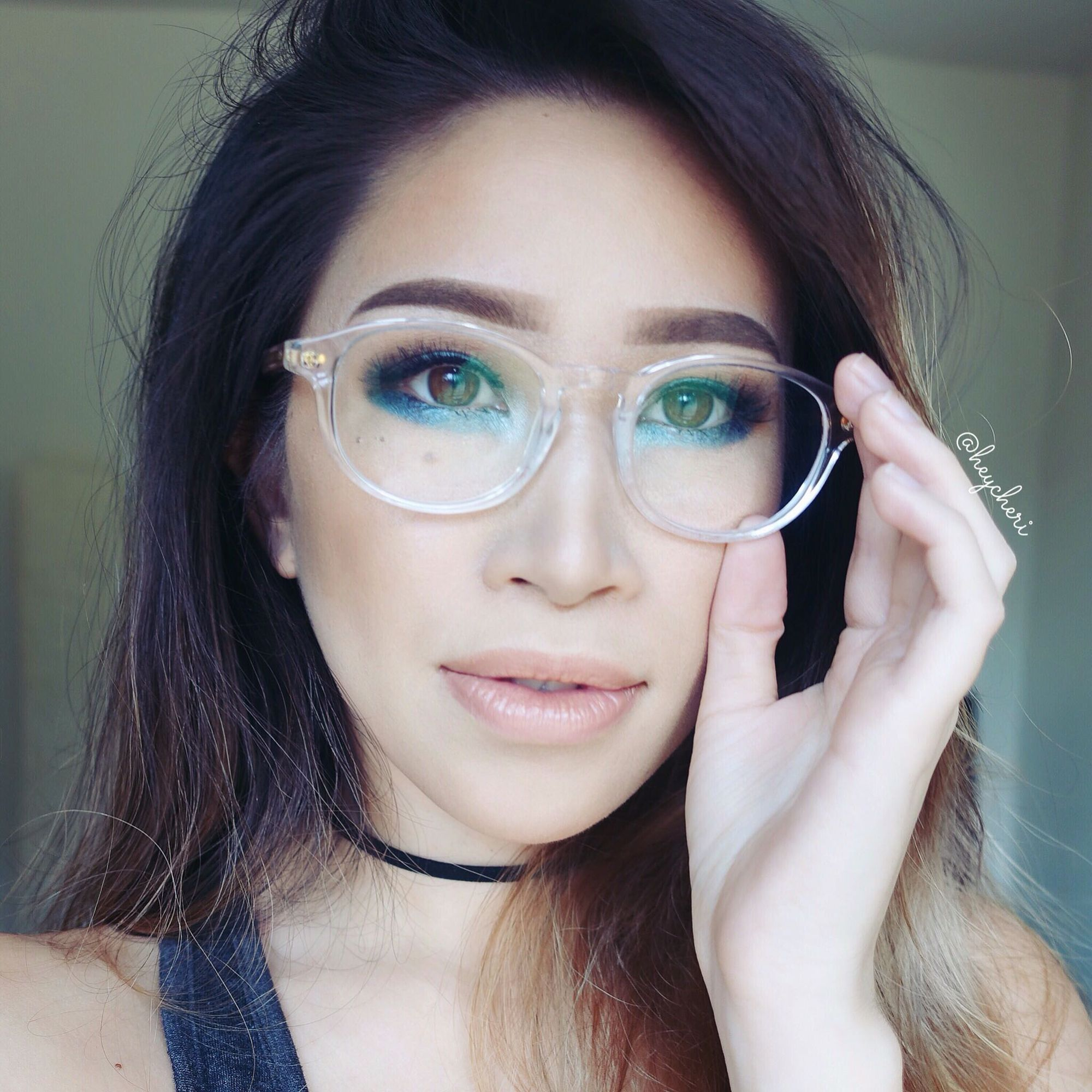 527bf7f337 So excited to rock these JINS eyewear clear glasses in my new bright &  colorful makeup for glasses tutorial on YouTube! It goes up next week.