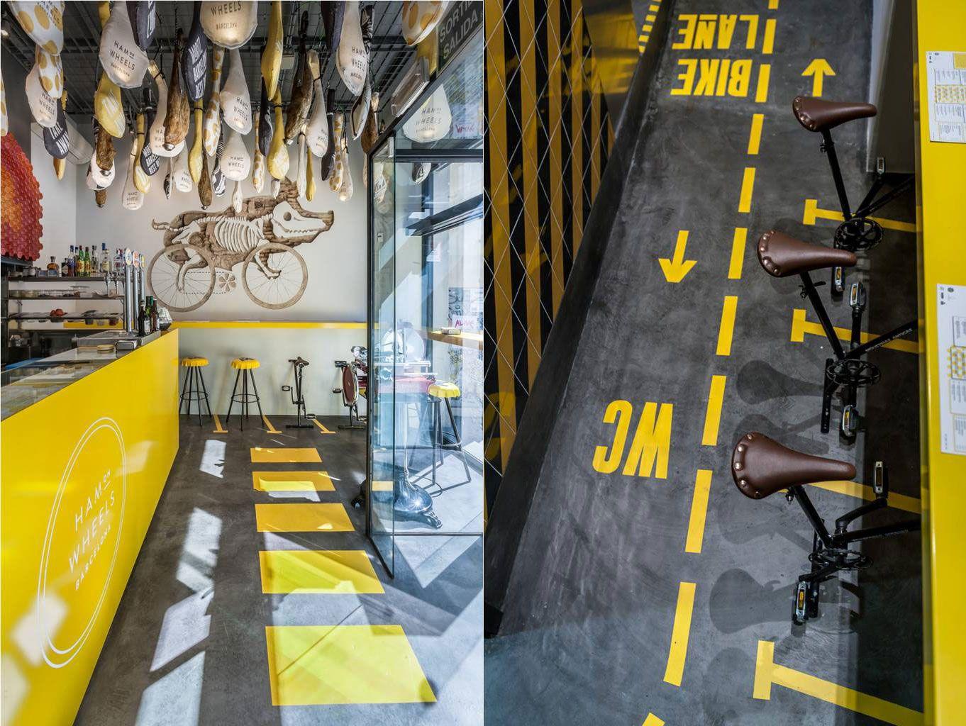 Jamón sobre ruedas, un divertido restaurante en Barcelona | Nice Fucking Graphics!