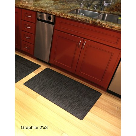 Mats Inc Luxe Therapeutic Ultra Cushioned Floor Mat Graphite 2 X 3 Gray Kitchen Mat Kitchen Flooring Home Decor