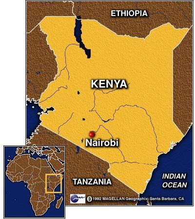 africa map nairobi