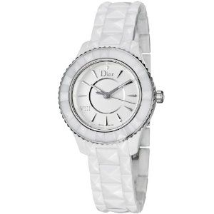 Christian Dior VIII White Ceramic and Stainless Steel Ladies Watch CD1231E2C001