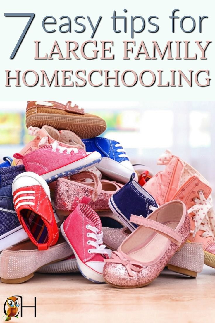 7 Easy Tips for Large Family Homeschooling (With images
