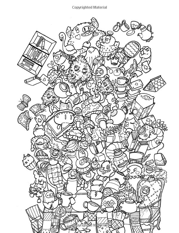 Amazon.com: Doodle Chaos: Zifflin's Coloring Book (Volume ...