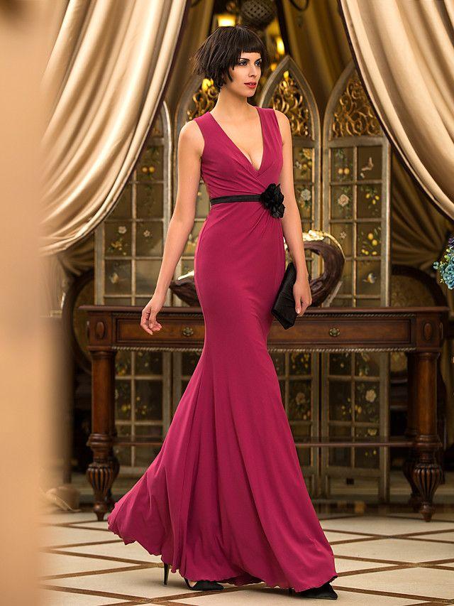 Prom/Military Ball/Formal Evening Dress - Burgundy Trumpet ...