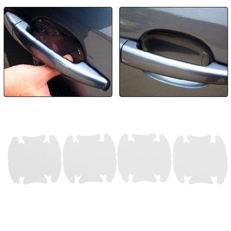 036 10 00 4pcs Set White Transparent Car Suv Side Door Edge Protector Protective Strip Scrape Guard Bumper Guards Handl Exterior Accessories Car Covers Car