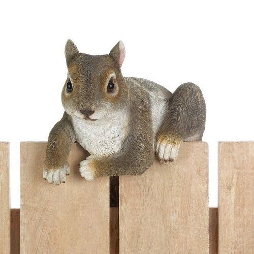 Squirrel Statue Garden Lawn Ornament Fence Climbing Figurine Patio Yard Decor Summerfieldterrace