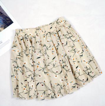 loose boho floral casual chiffon shorts