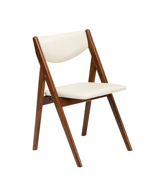 Stakmore Comfort Folding Chair, Fruitwood Frame & Off White Vinyl is part of Wood folding chair - Sold in Cartons of 2)