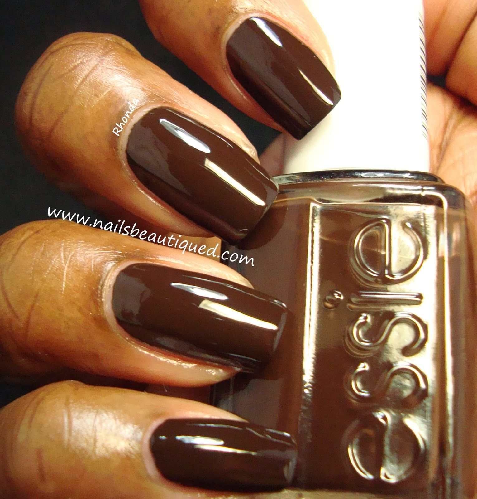 Fancy Dark Brown Nails Pattern - Nail Art Design Ideas ...
