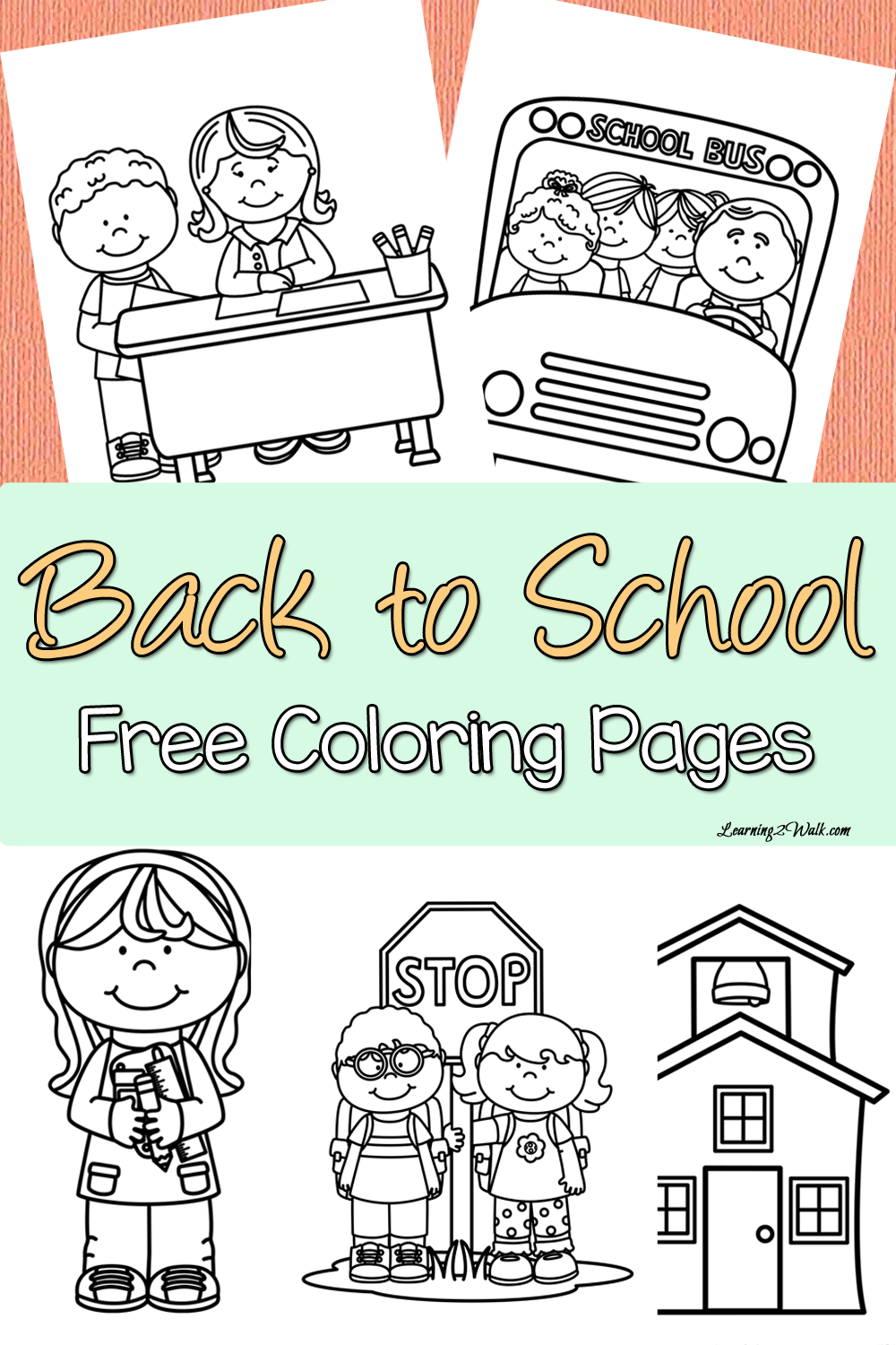 Back to School Free Coloring Page Set | Classroom | Pinterest ...