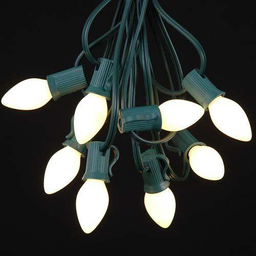 novelty lights c7 white ceramic christmas lights set indooroutdoor christmas light string christmas tree lights opaque christmas bulbs outdoor