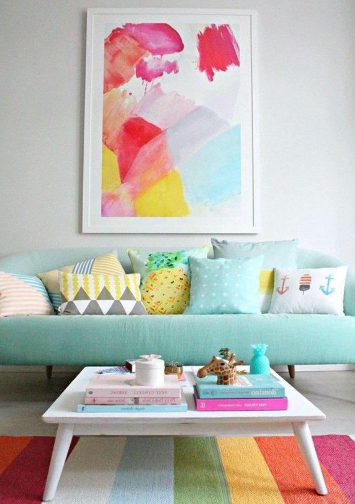 1001 conseils et id es pour une d co couleur vert d 39 eau design d int rieur pinterest. Black Bedroom Furniture Sets. Home Design Ideas