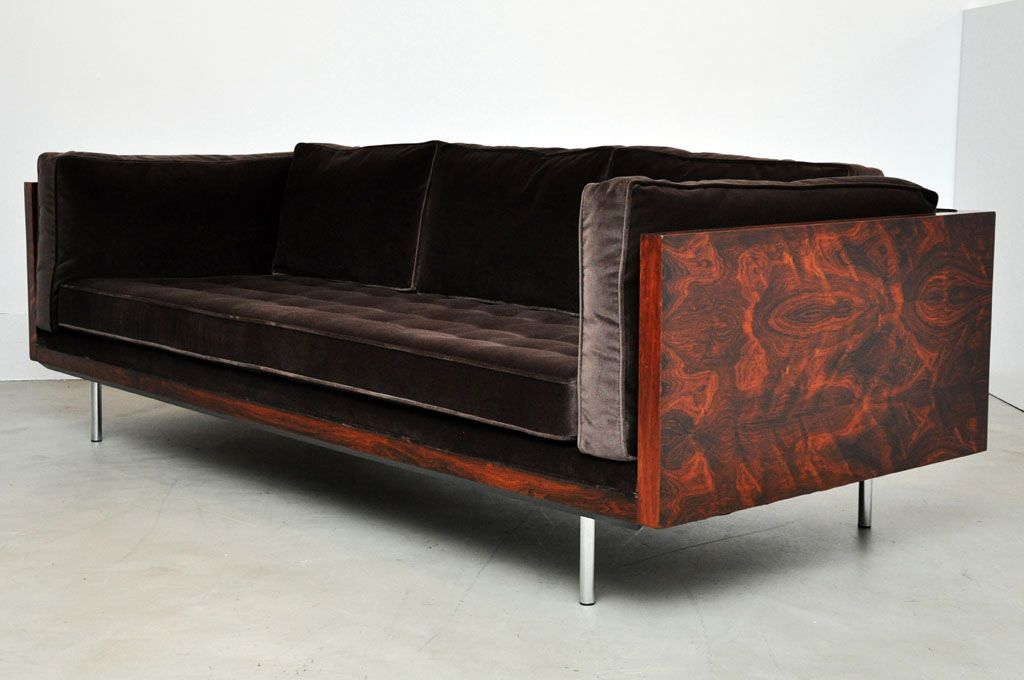 Rosewood case sofa by Milo Baughman for ThayerCoggin home