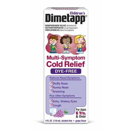 Dimetapp Children S Dye Free Multi Sympton Size 4