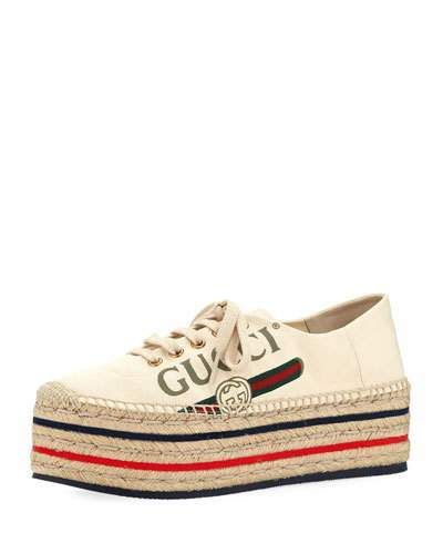b53b5d316ec3 Gucci Lilibeth Gucci-Print Fabric Platform Espadrille  gucci  ShopStyle   MyShopStyle click link for more information