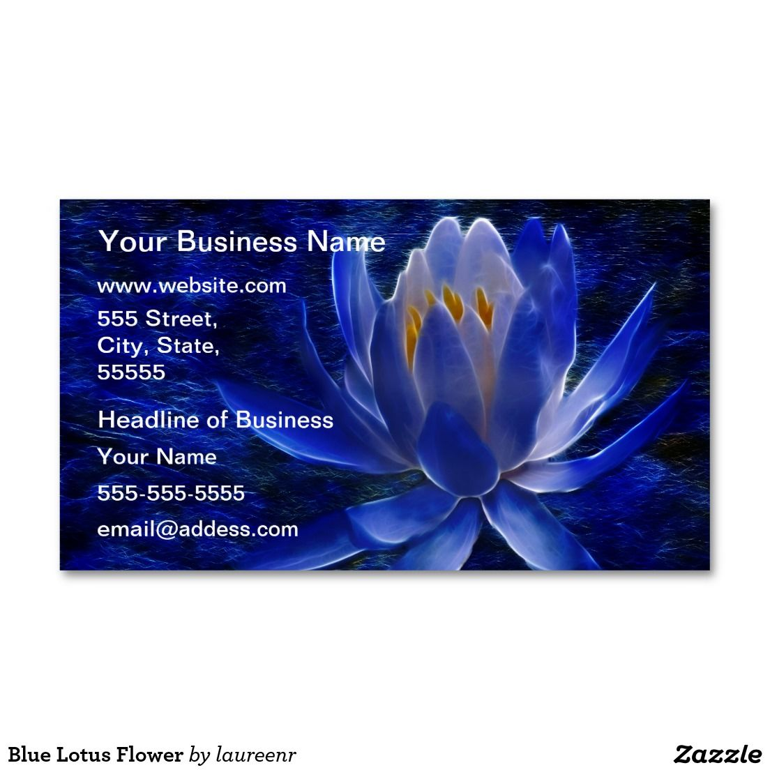 Blue Lotus Flower Business Card | Blue lotus flower
