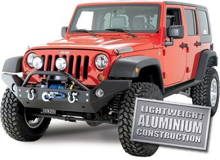 Rock Hard 4x4 Parts Aluminum Full Width Front Bumper Jeep Jeep