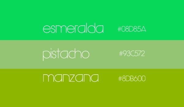 tipos de verdes con sus nombres  Buscar con Google