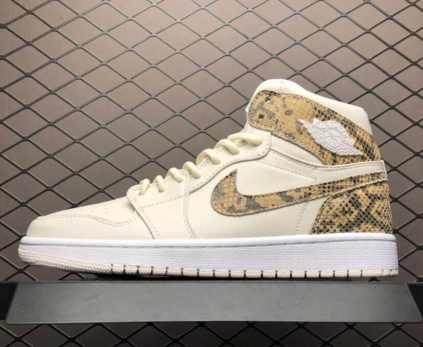 Where to buy mens Air Jordan 1 High Snakeskin White AH7389-004  90de0d5fc