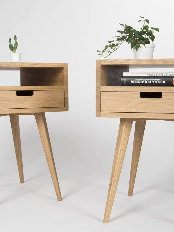 Best Pair Of Mid Century Modern Nightstand Bedside Table End 640 x 480