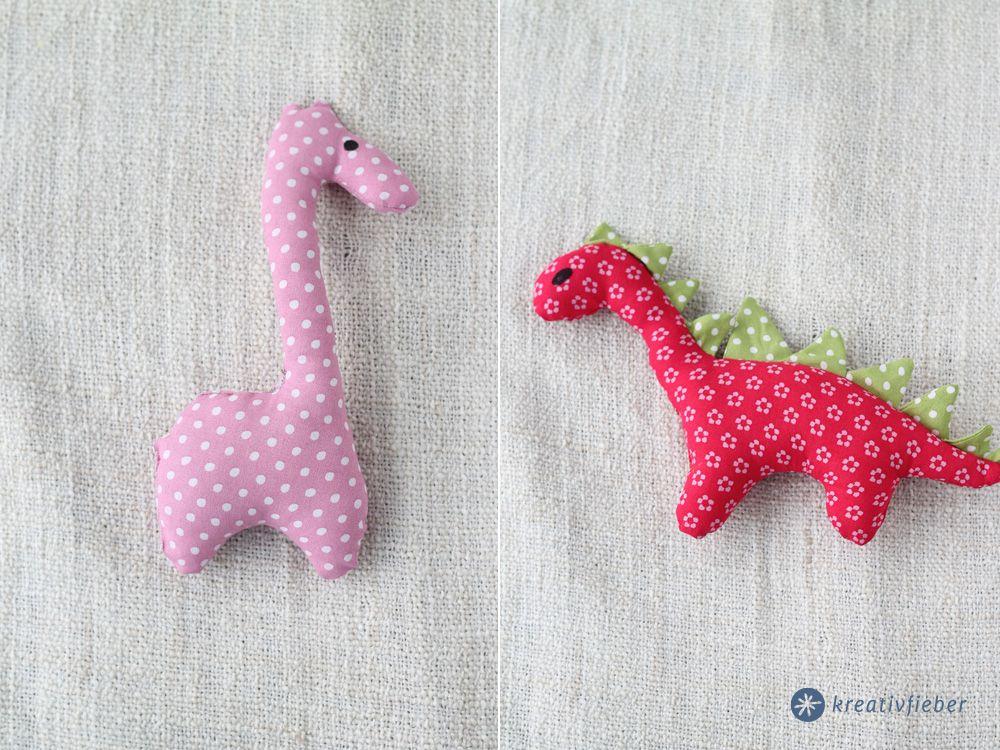 DIY Stofftiere nähen - mit oder ohne Rassel - kleine Geschenkidee ...