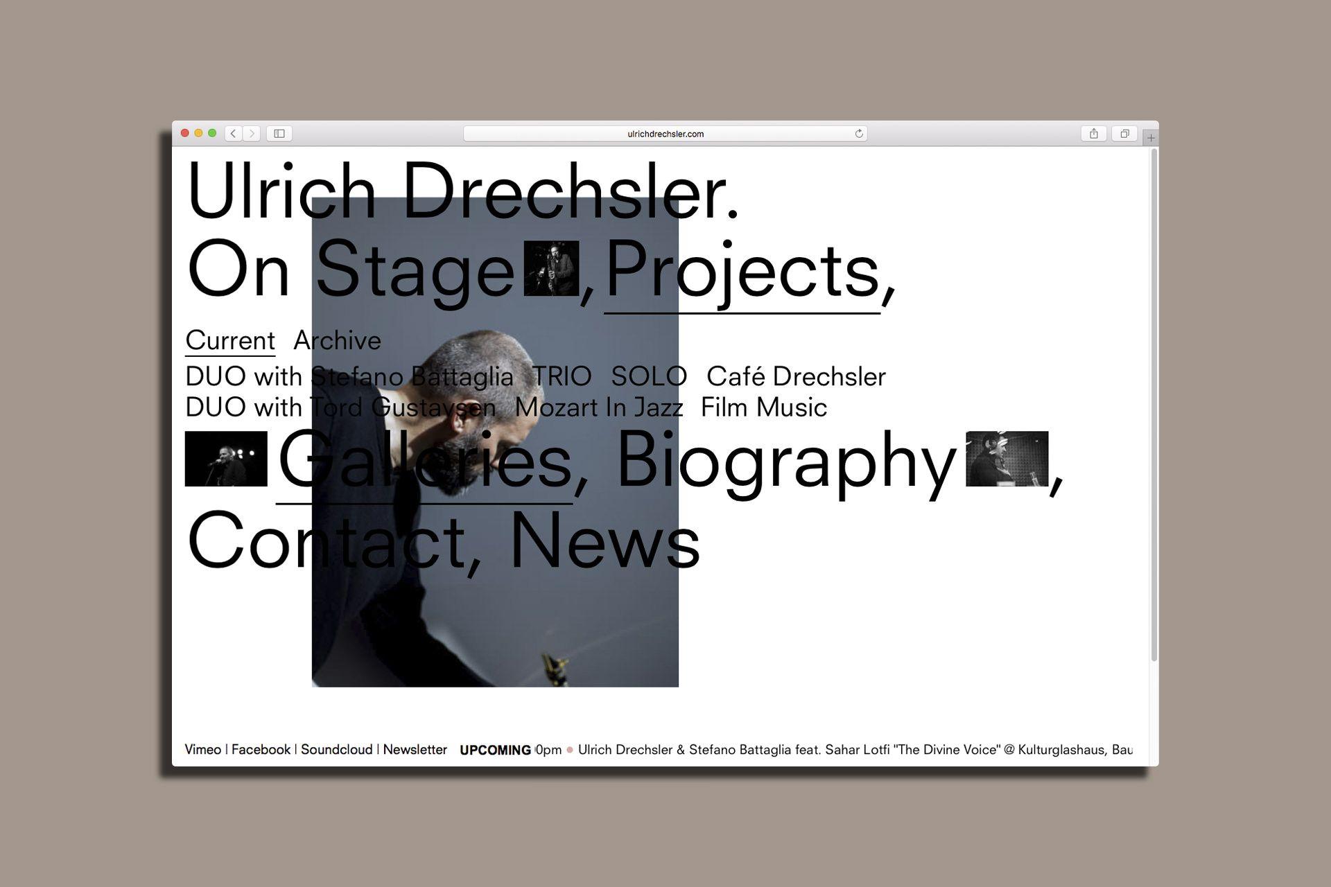 Ulrich Drechsler Webdesign Seite Zwei Minimal Website Design Web Design Typography Layout