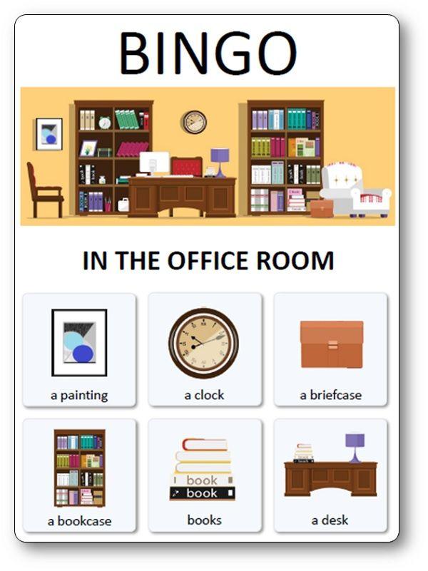 Loto Des Meubles Objets Et Pieces De La Maison In The Office Room Types De Textes Loto Maison
