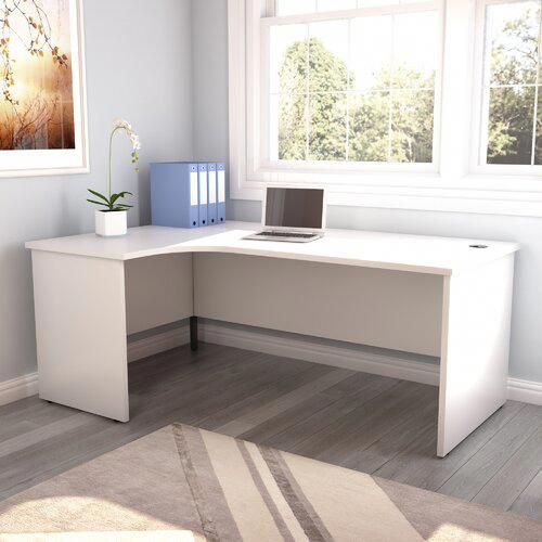 L-Shape Desk All Home Orientation: Left, Finish: White