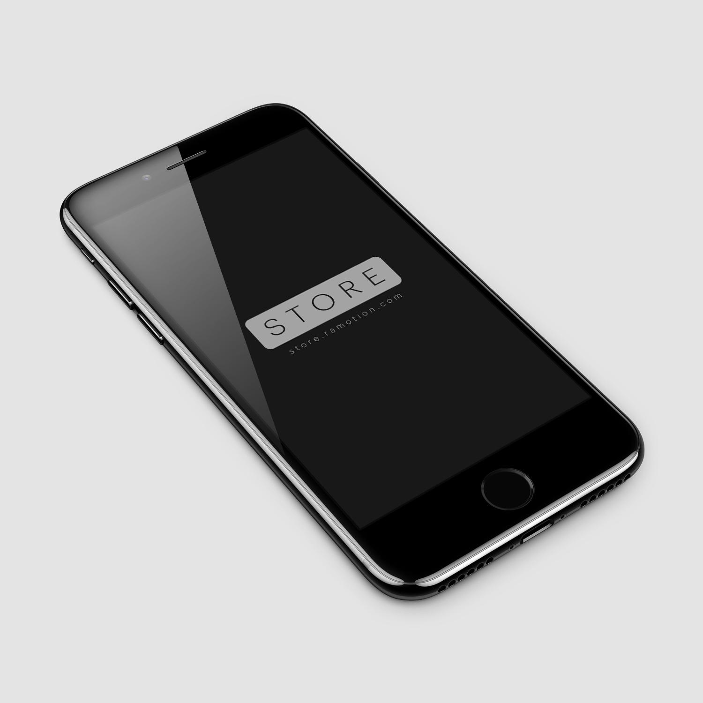 Download Iphone 7 Jet Black Perspective Free Mockup Preview Png 1500 1500 Iphone 7 Jet Black Black Iphone 7 Iphone