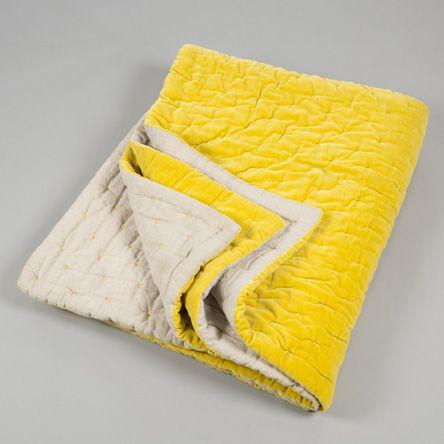 Velvet Linen Bedspread image | textiles + weaving + heritage ... : yellow quilted bedspread - Adamdwight.com
