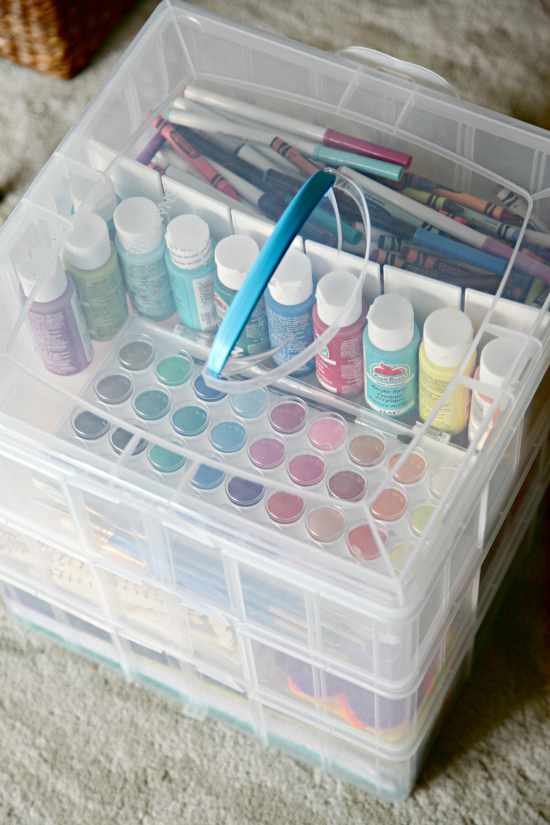 Our Secret Craft Storage Craft storage Organizing and Small spaces