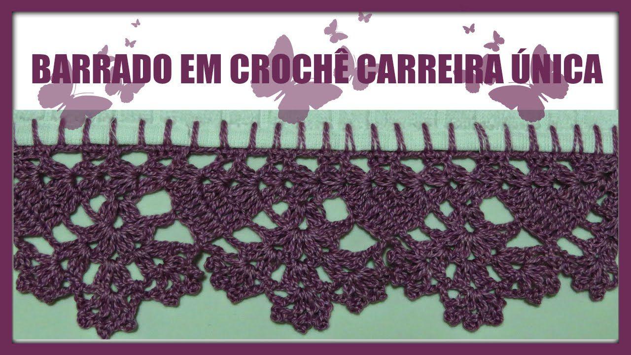 Barrado Em Croche Carreira Unica Com Imagens Barrados De