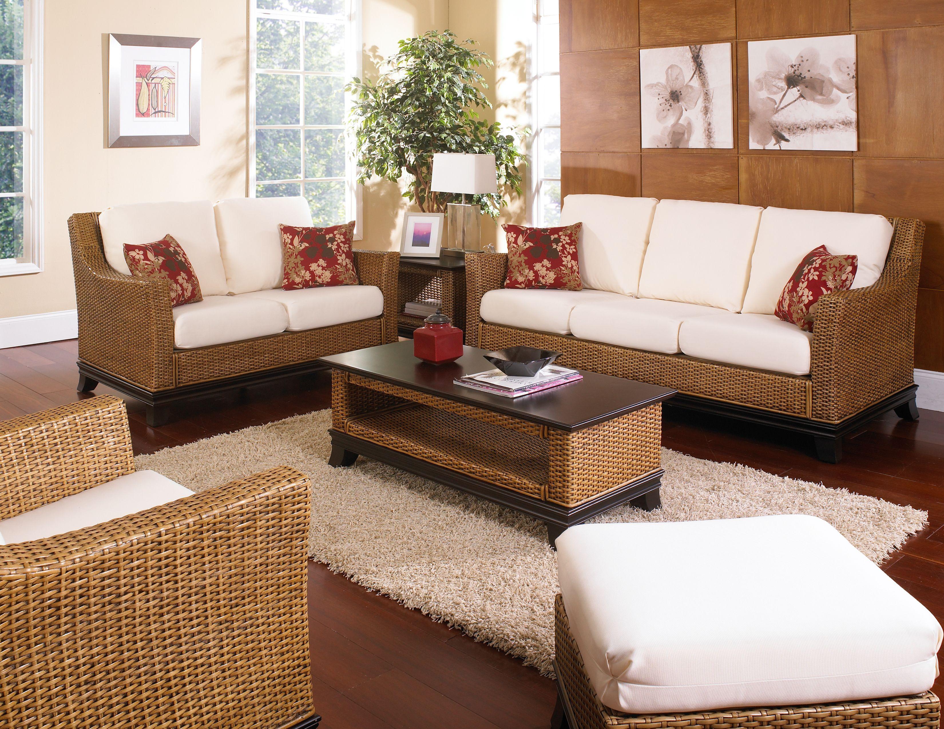 Beau Indoor White Wicker Furniture