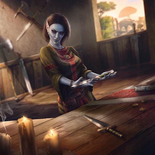 Suran Pawnbroker Fantasy Art Elder Scrolls Morrowind Dunmer